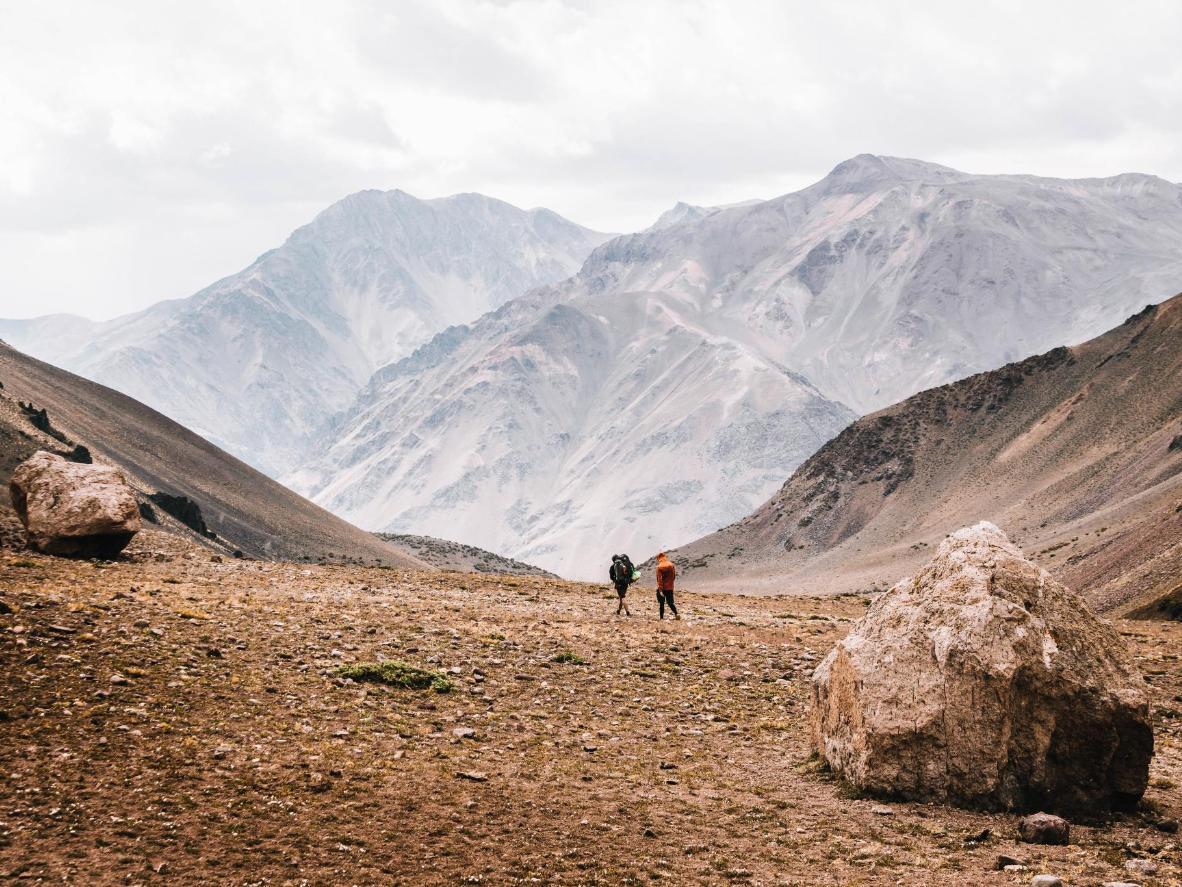 Hiking in Aconcagua near Mendoza