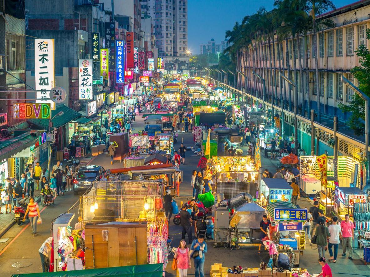 Some of the 580 stalls at the Zhongli Xinming Night Market