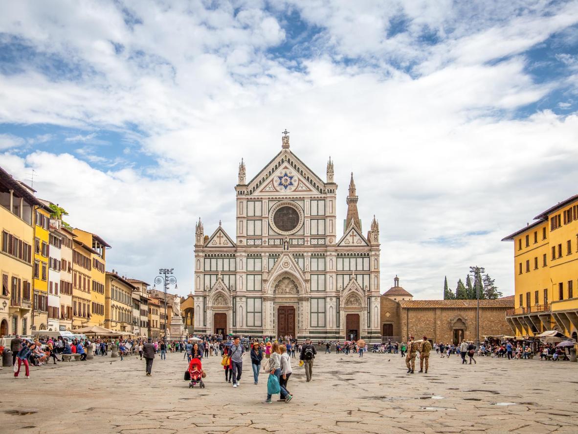 Basilica di Santa Croce is popular among filmmakers