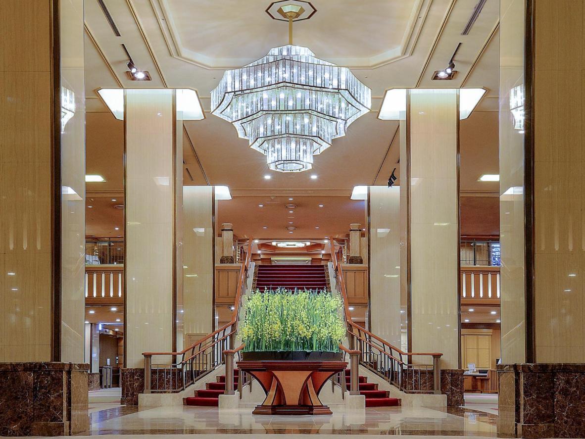 La storia dell'hotel si respira già nella hall