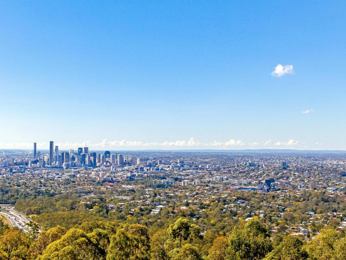 The view from Mount Coot-tha