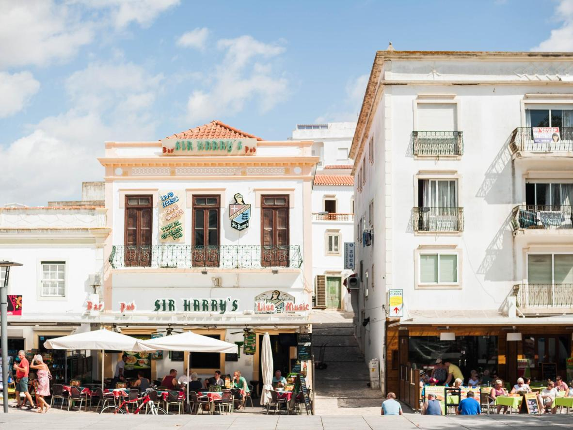 The Old Town district in Albufeira