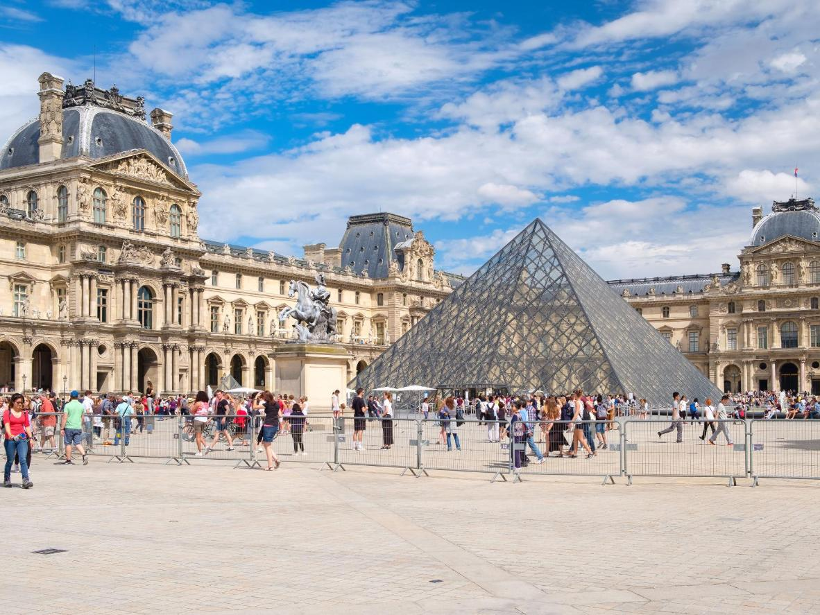 The Louvre Pyramid, designed by architect I.M. Pei
