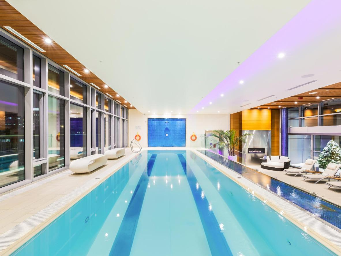 Get a swim in before bed at this late-night pool