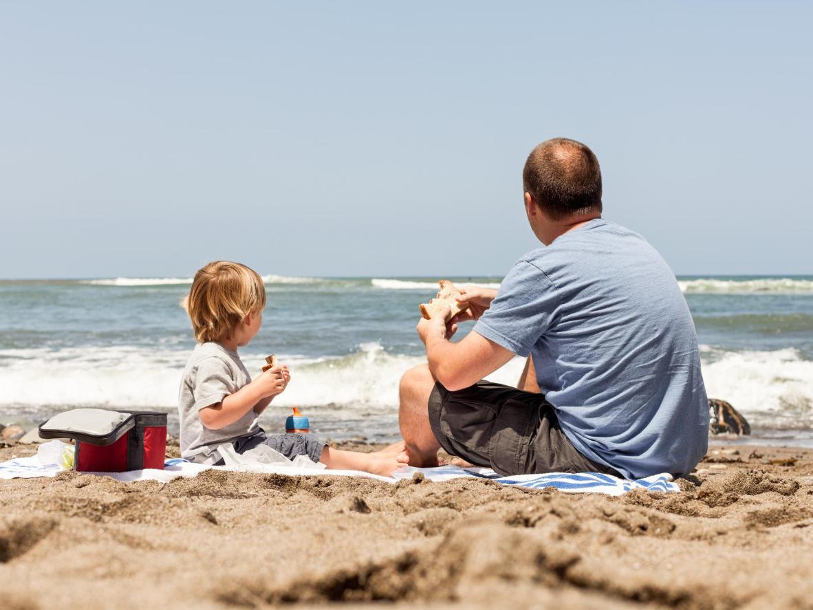 Victoria Park Beach is a popular spot for family picnics