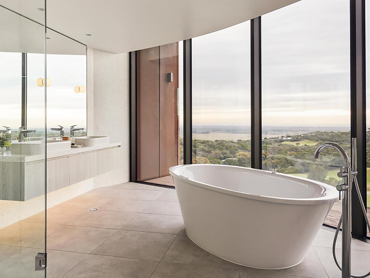 Take in the spectacular views from the bathtub at RACV Cape Schanck Resort