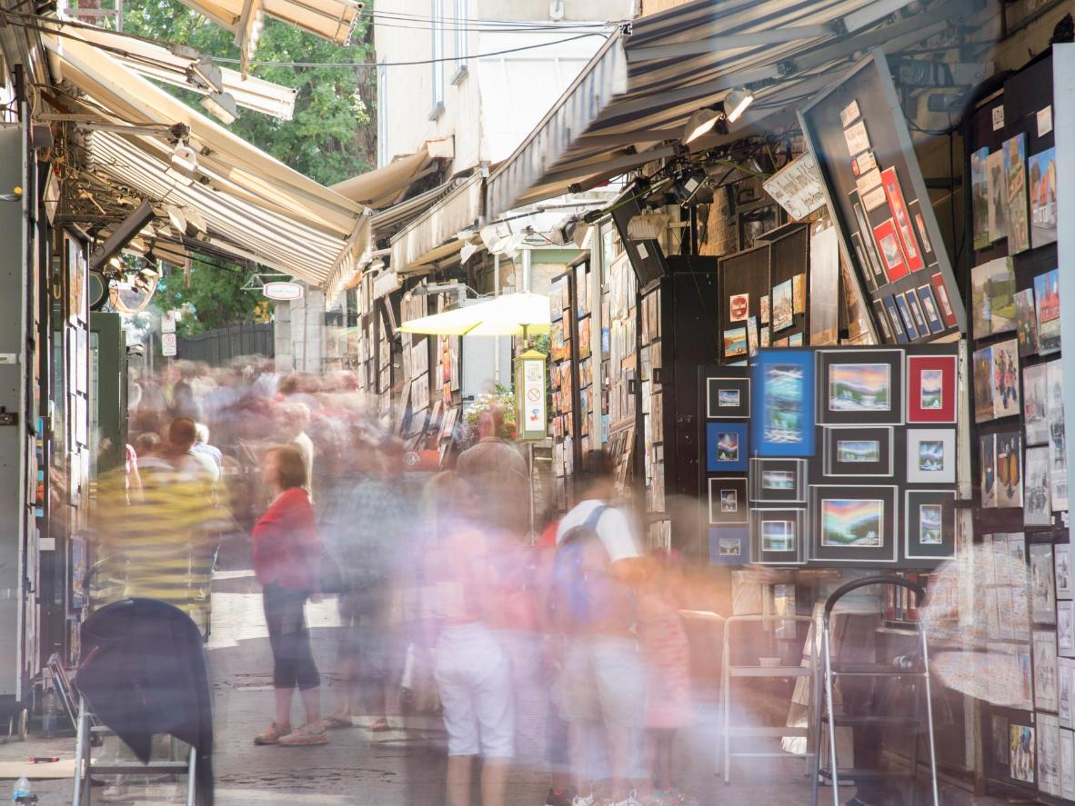 Rue du Tresor or Art Alley is where local artists sell their work