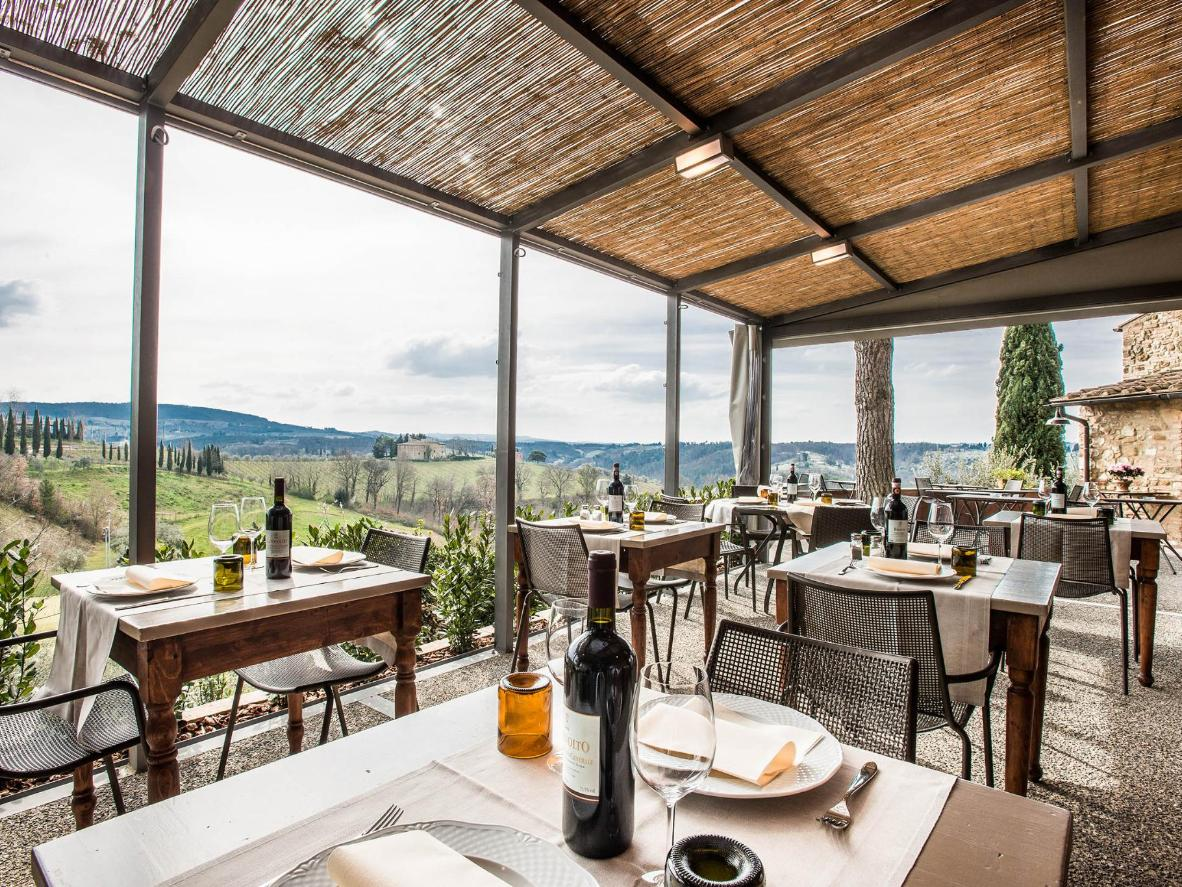 Views of the Chianti hills from Salvadonica in Tuscany
