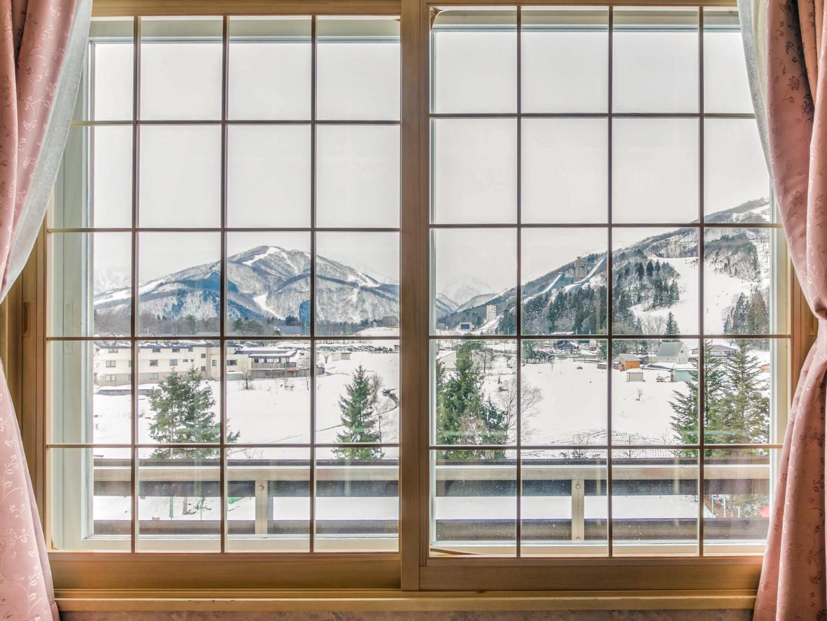 Take in the snowy views from this Rosenheim Hakuba