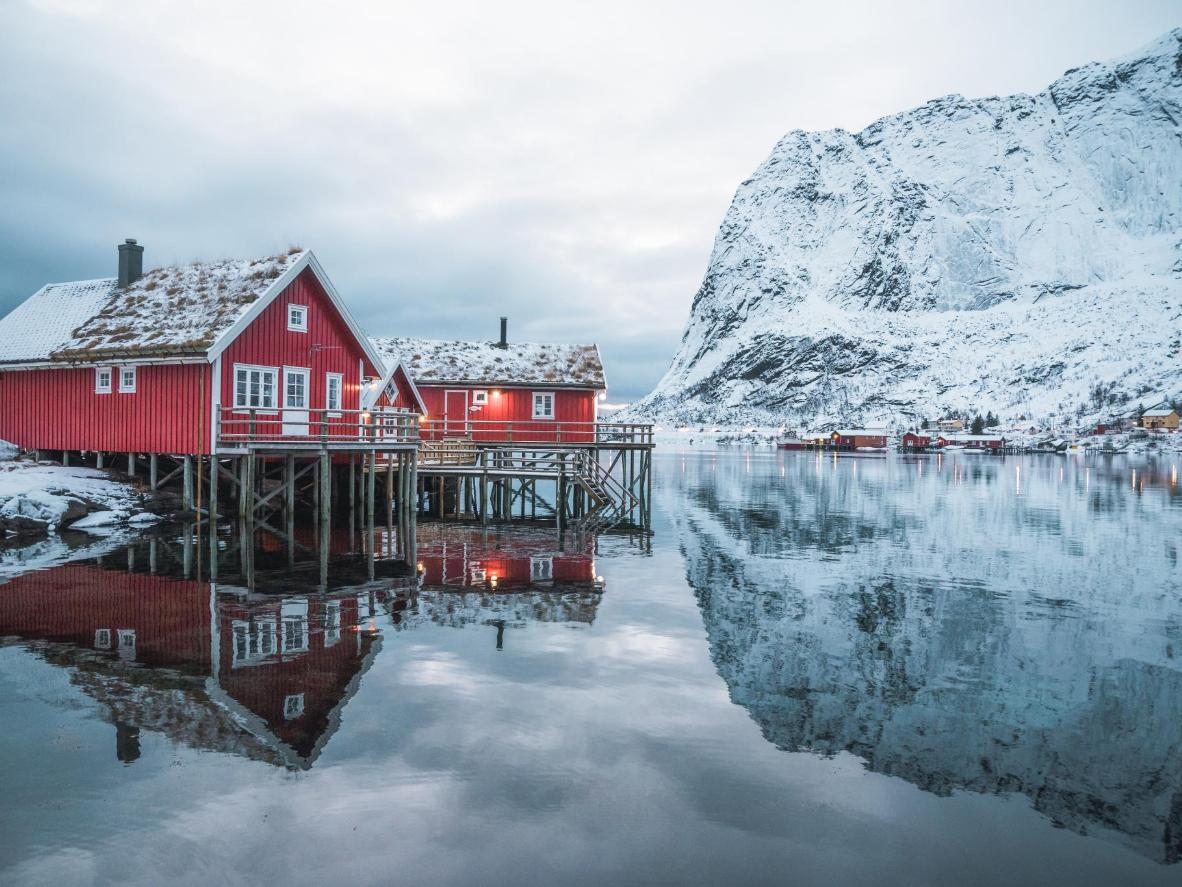 Combine mountain and sea views in Reine, Norway