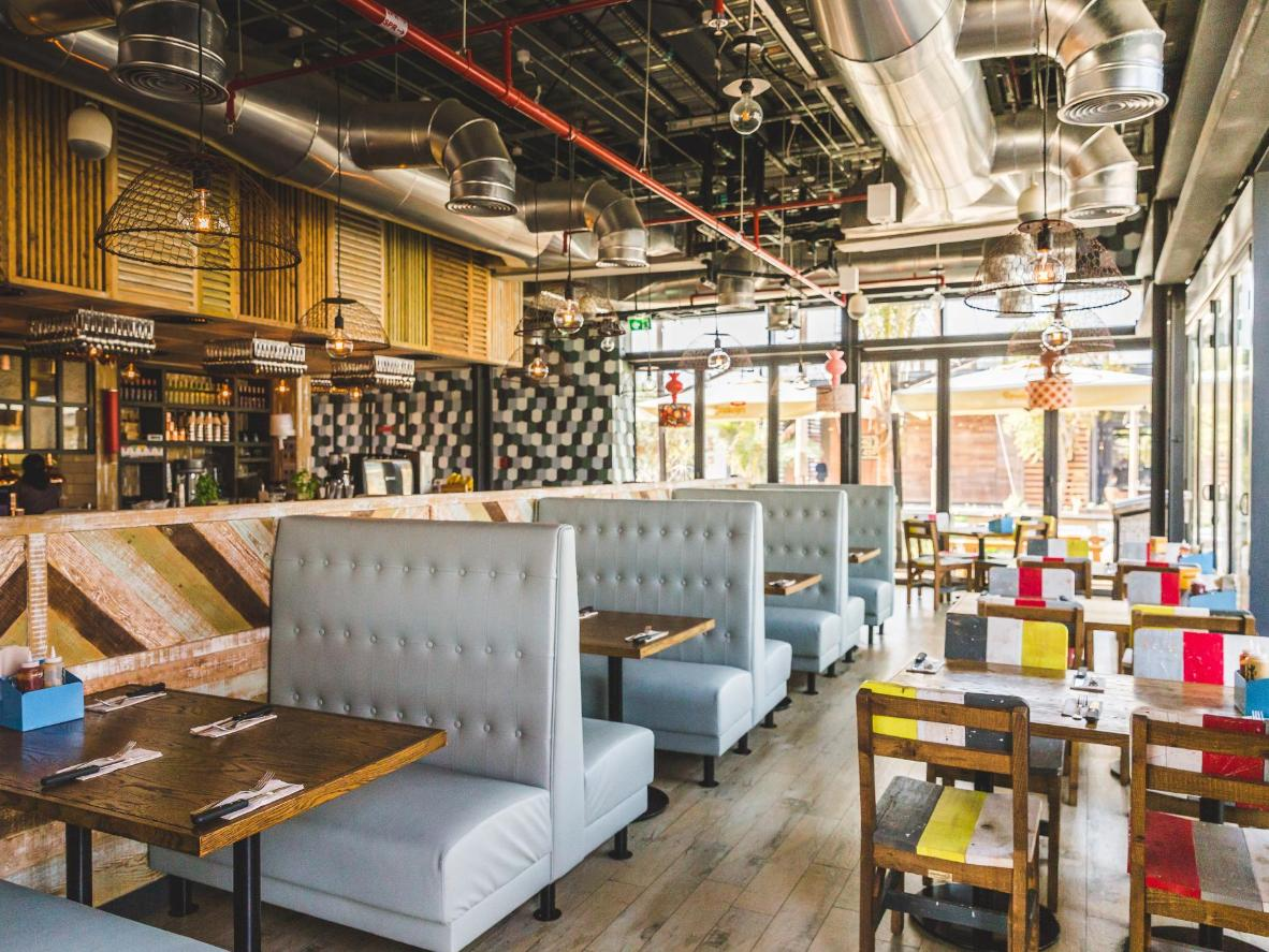 Customise your own veggie burger with organic ingredients at Bare Burger