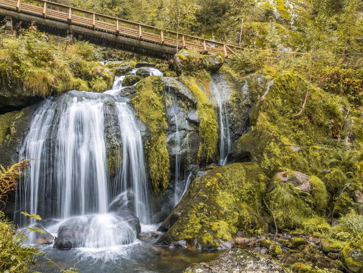 Visit the atmospheric Triberg Waterfalls in Baden-Württemberg