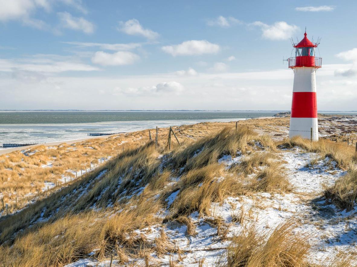 Ellenbogen lighthouse in the north of Sylt