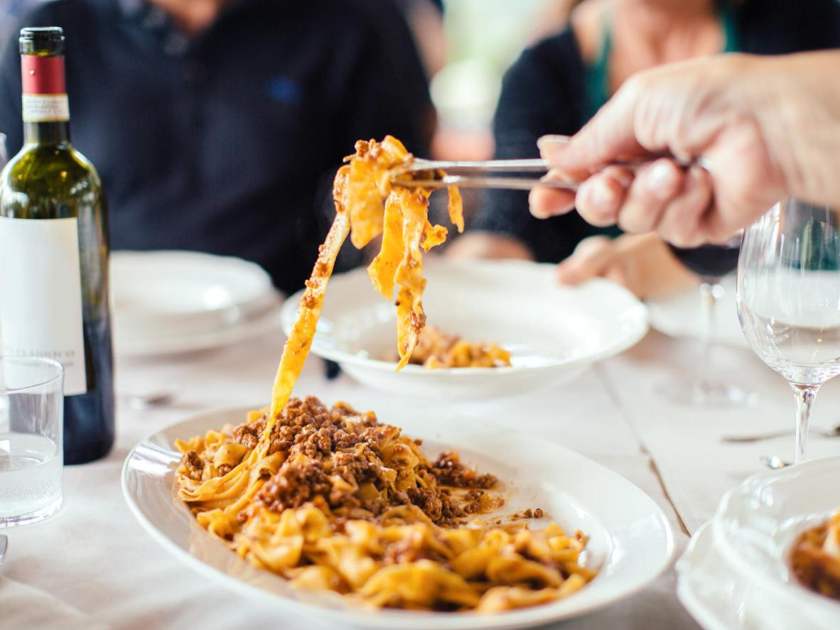 You'll find this dish throughout Tuscany – just don't mistake it for Bolognese