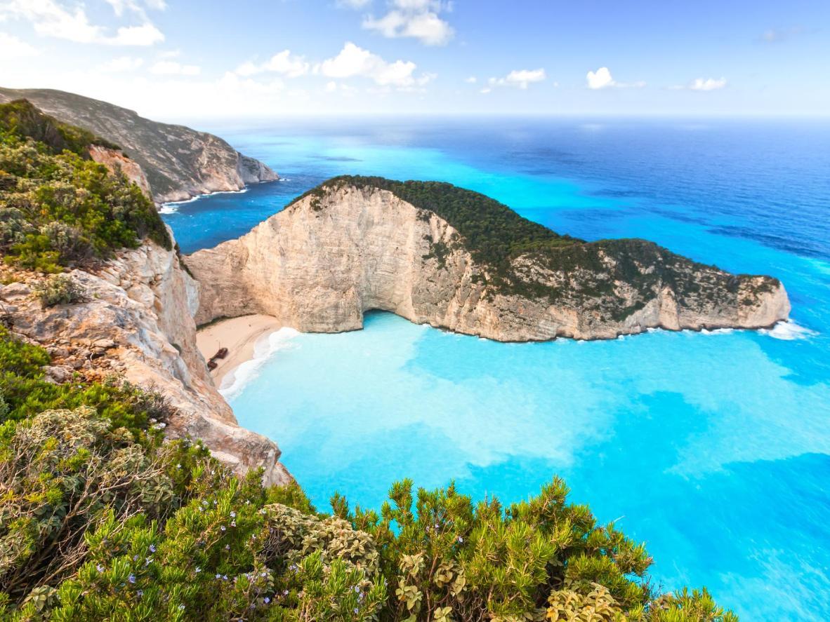 Playa Navagio en la isla de Zakynthos