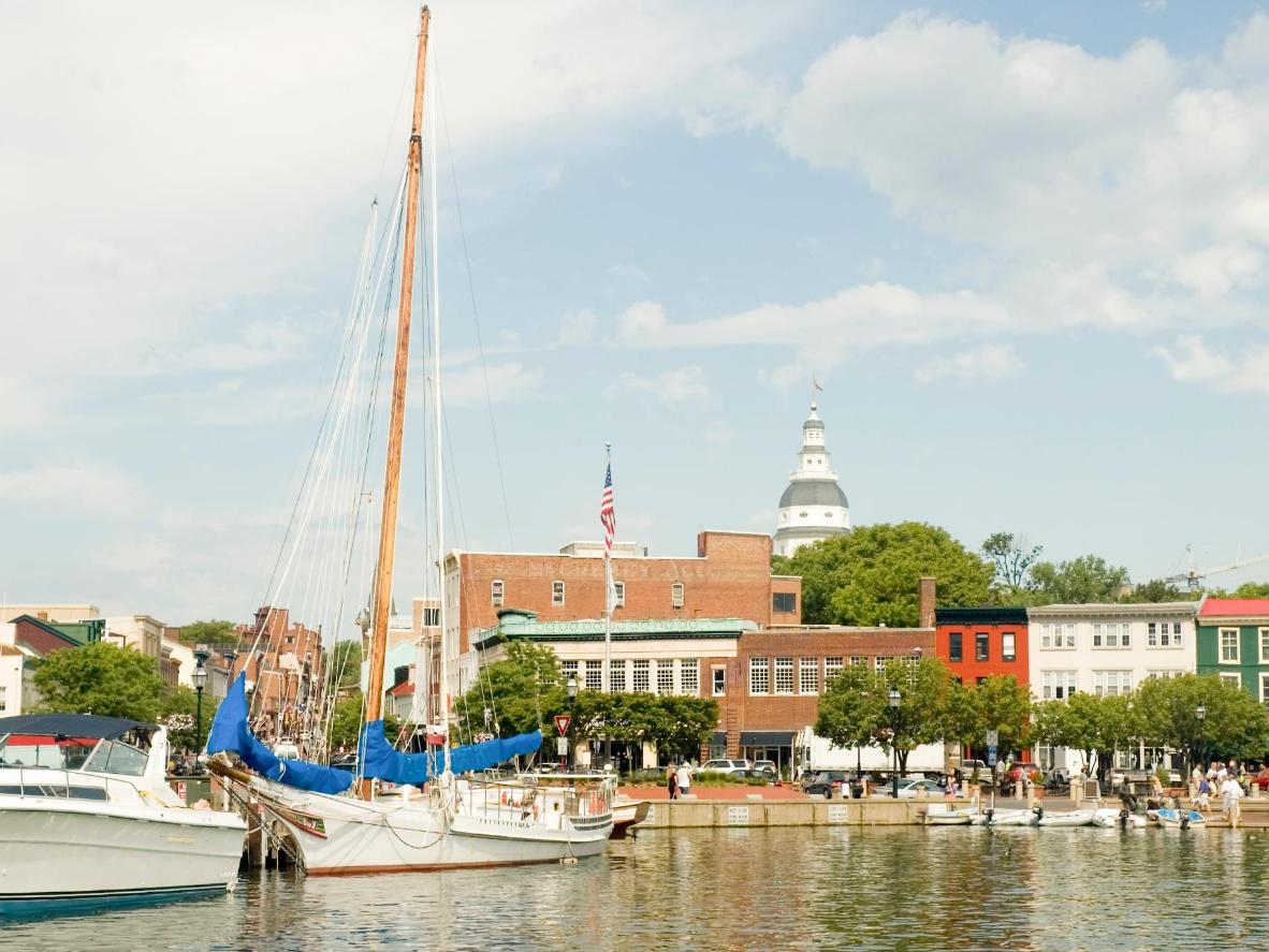 Annapolis Harbour is surrounded by a fleet of boutiques and restaurants