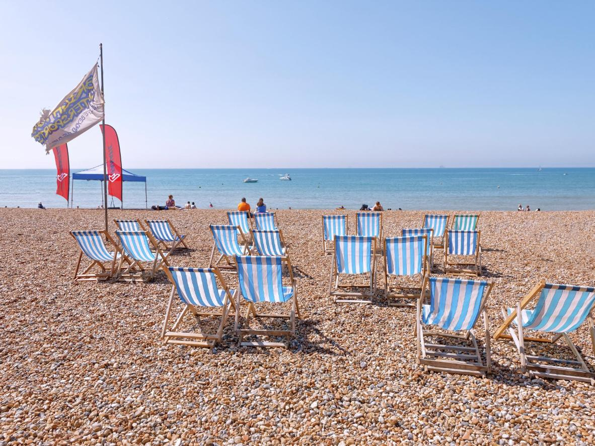 A trip to Brighton's pebble beach is a rite of passage in the UK