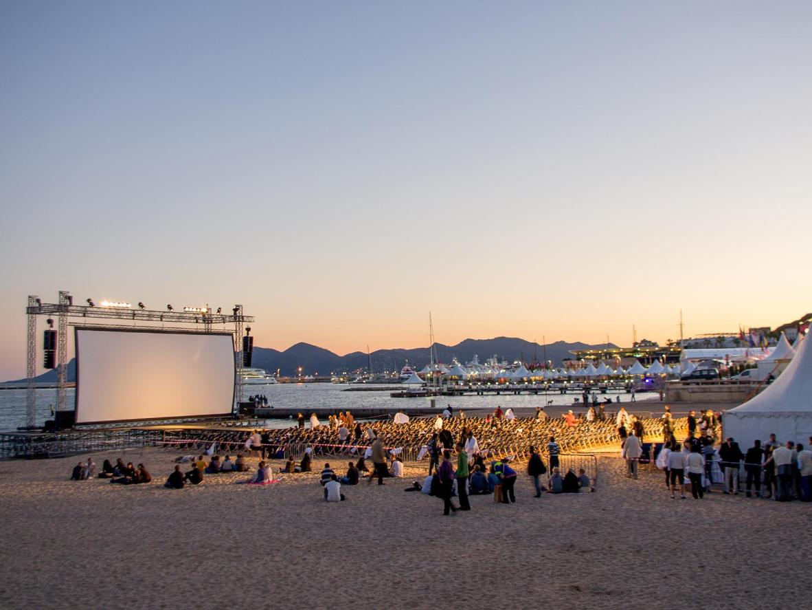 Cannes Film Festival even extends onto the beach