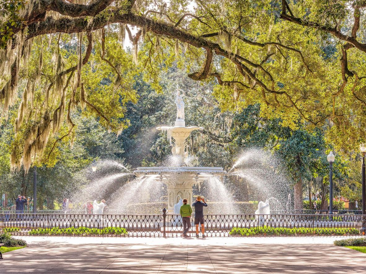 Forsyth Park is just one of many secluded spots in Savannah