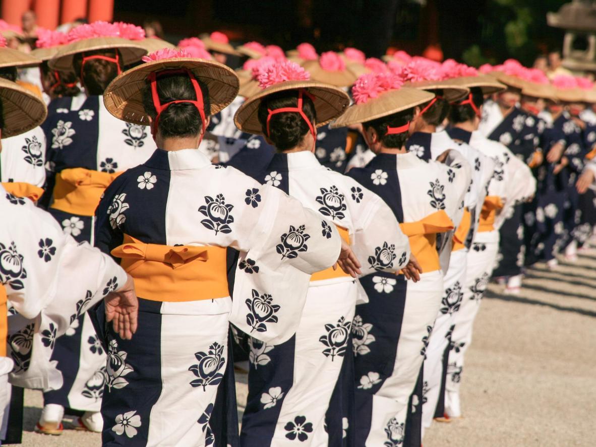 Uno scatto del festival Aoi Matsuri, che si tiene ogni anno il 15 maggio