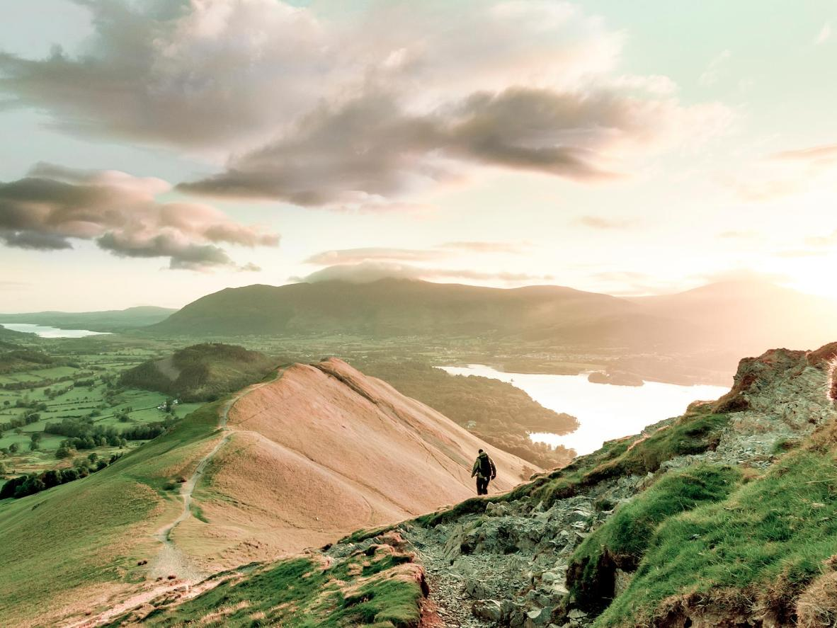 Hike up Catbells Fell for scenic views