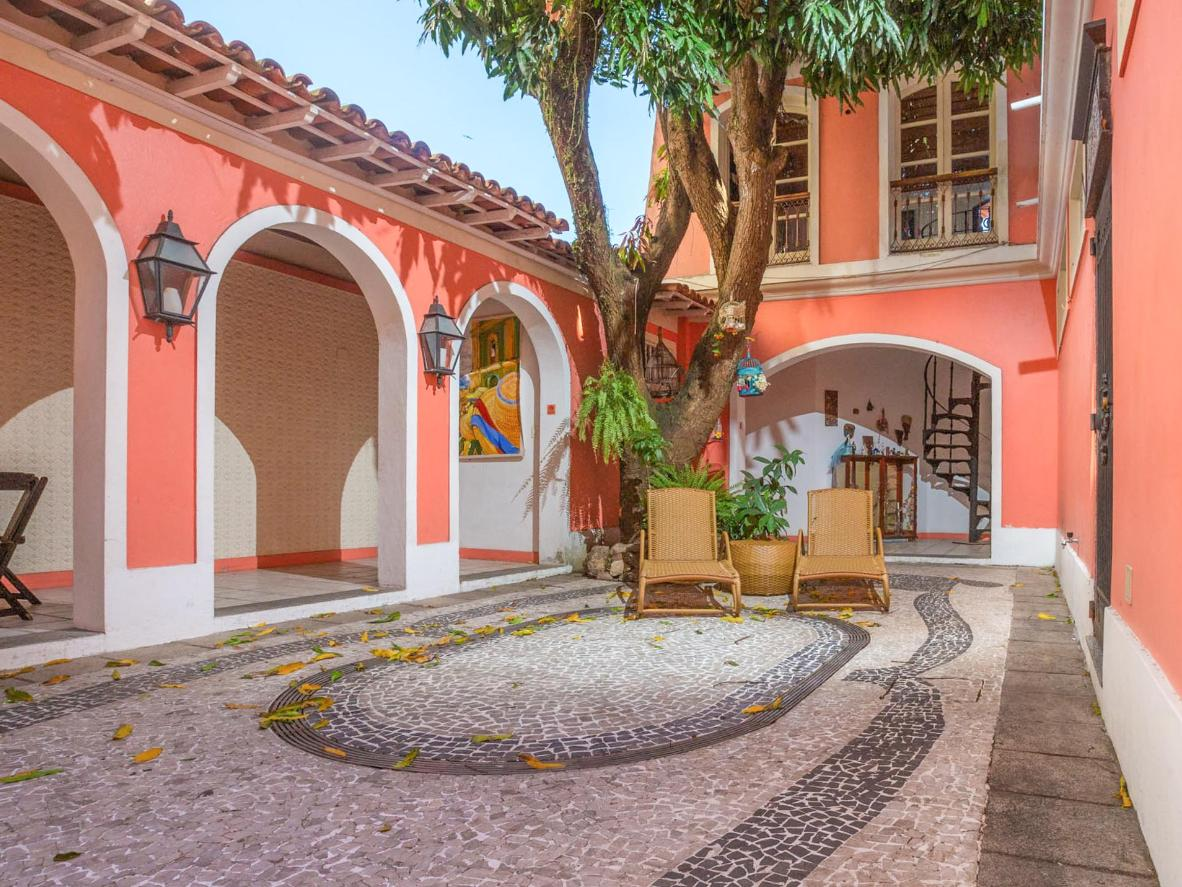 Let your pet play safely within the confines of Casa Francisco's coral-coloured walls