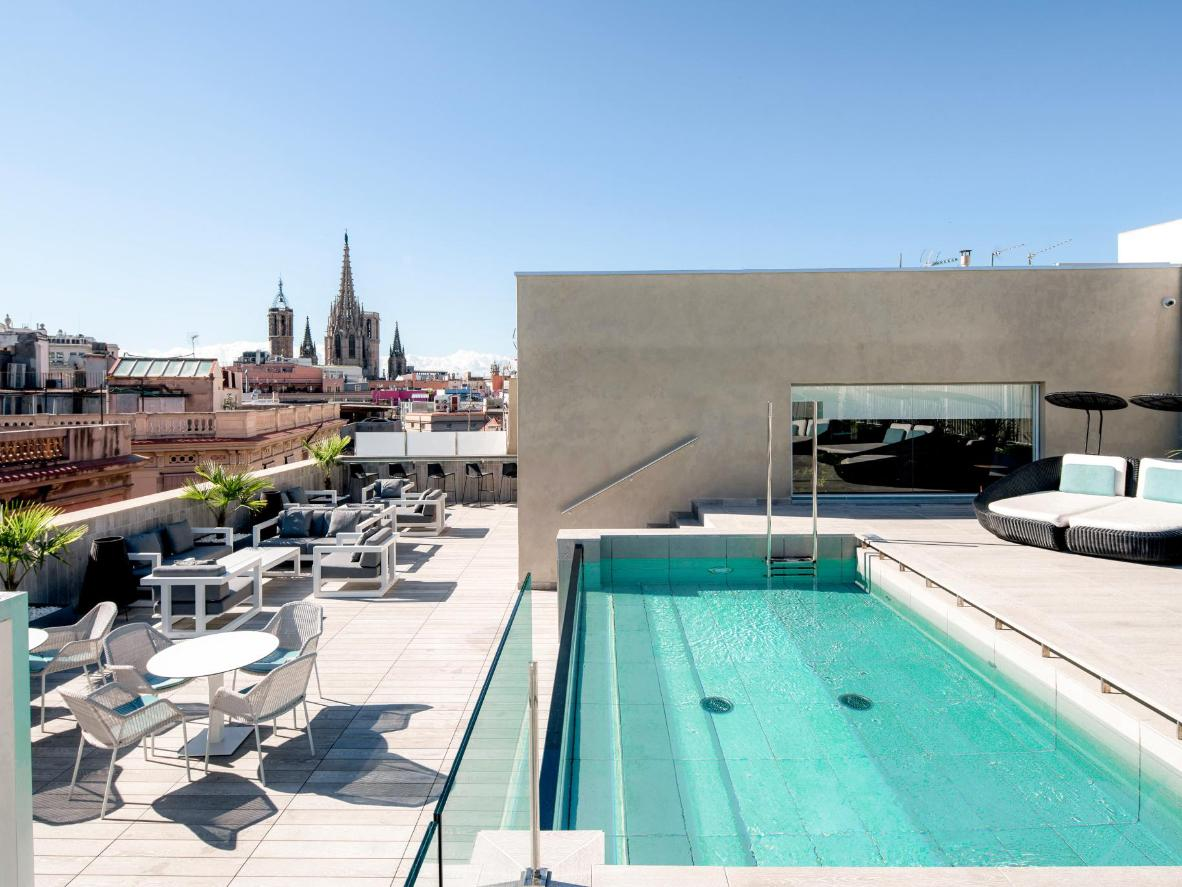Catalonia Magdalenes' rooftop pool provides cool relief from the busy Barcelona streets