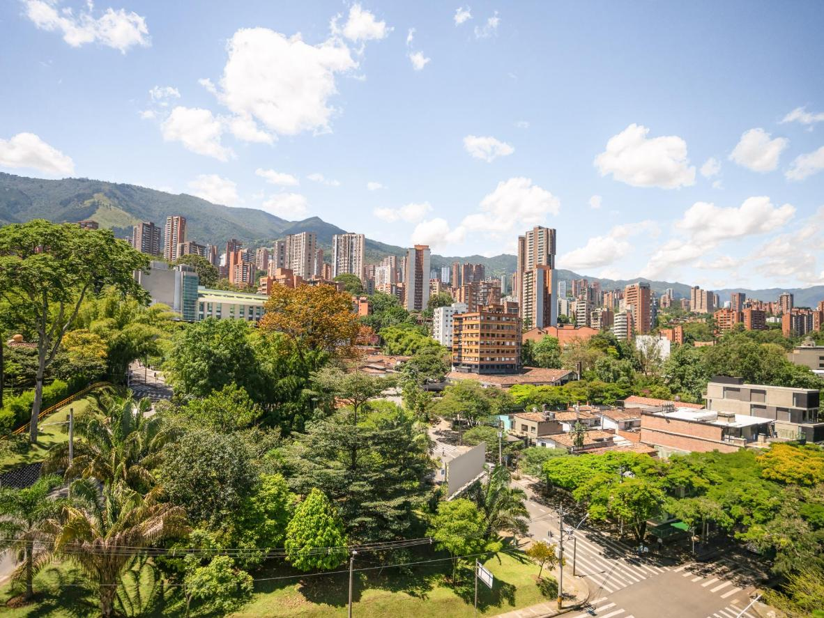 Medellín's skyscrapes are cradled by the rugged surronding mountains