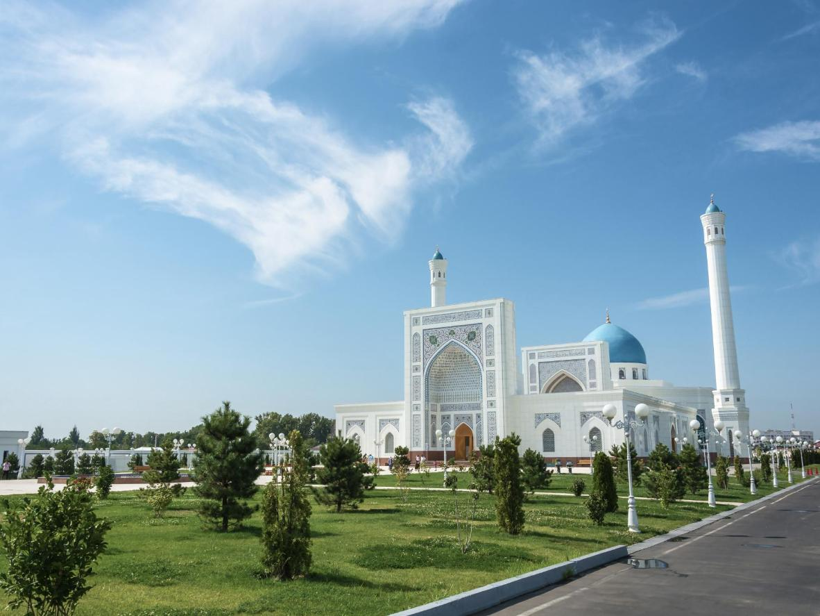 The Minor Mosque is one of Tashkent's most splendid sights