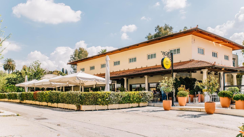 Enjoy freshly-made ice cream on the terrace at Aegli Cafe