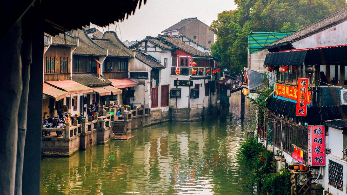 One of many mystical waterways, neighboured by local restaurants