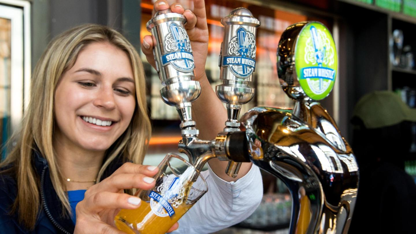 Sip this popular brew before a Blue Jays match at Rogers Centre, across the road