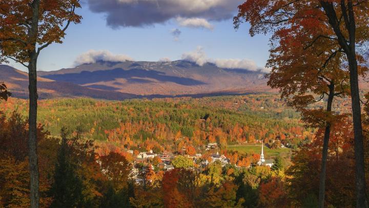Encuentra el mejor lugar para los paisajes de otoño en Stowe