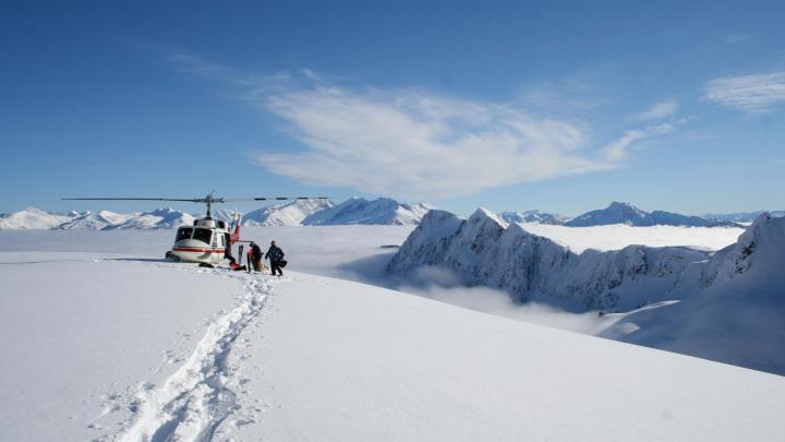 Encuentra el mejor lugar para el heliesquí en Whistler