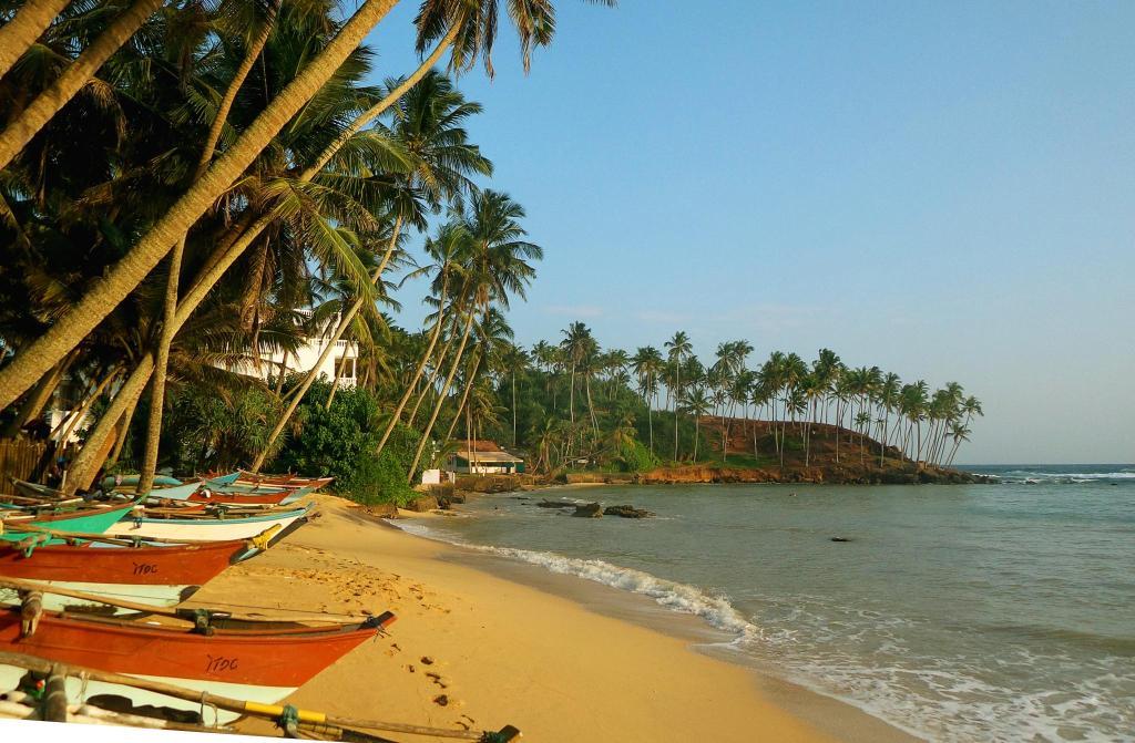 Пляж в Мириссе (Шри-Ланка)