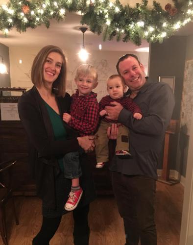 Doug and Jenn Edwards and their boys