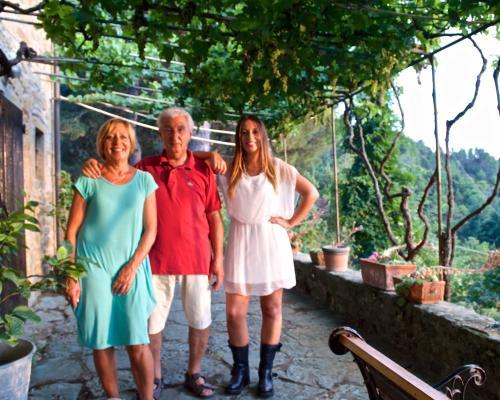 Irene e i genitori Fiorella e Luciano
