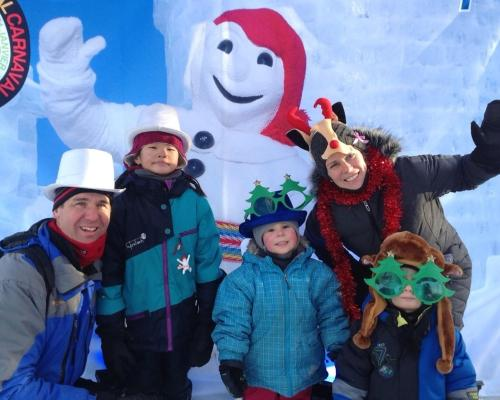 Ma famille au carnaval de Québec