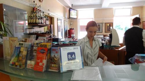 Receptionist Christina