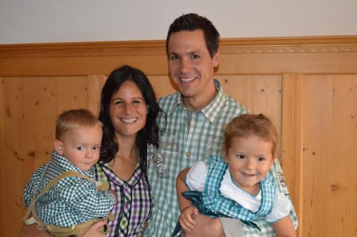 Christine Scherer mit Familie