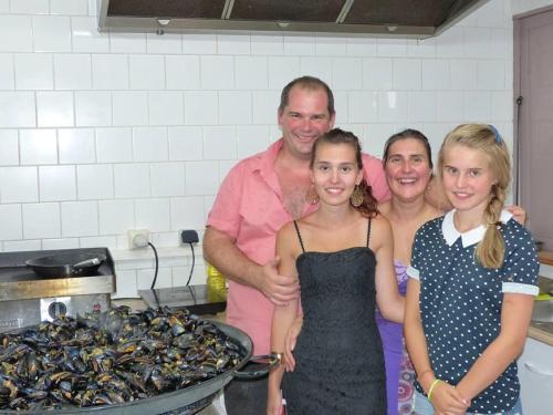 Olivier, Valérie et leurs filles