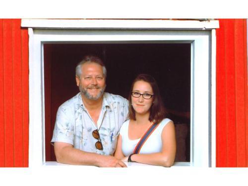 John Clarke and daughter Rose