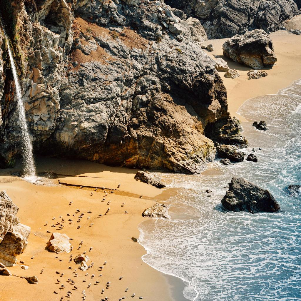 Pfeiffer Beach is one of the more secluded beaches in Big Sur