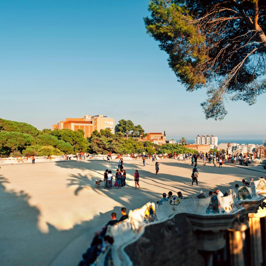 Dogs are welcomed in Barcelona's popular Park Guell