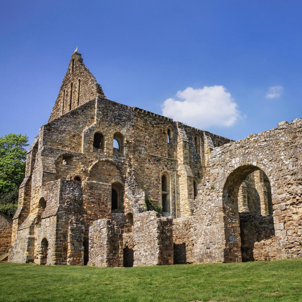 Historical ruins in the town of Battle, England