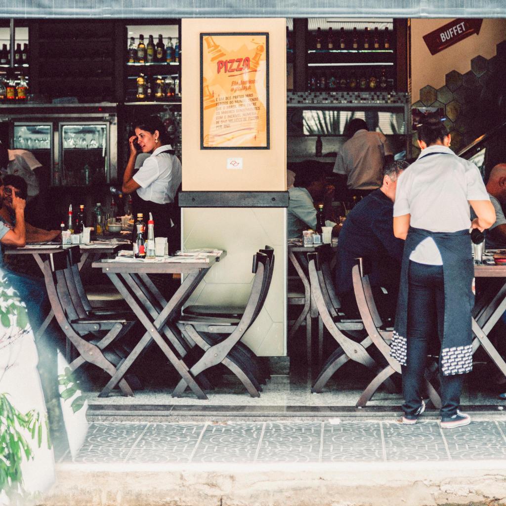 Italian dining in the Brooklin Novo district of Sao Paulo