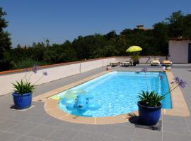 Jolie chambre,vue sur piscine, Tordères