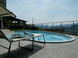 Villa Girandola with private, heated pool, Lugano
