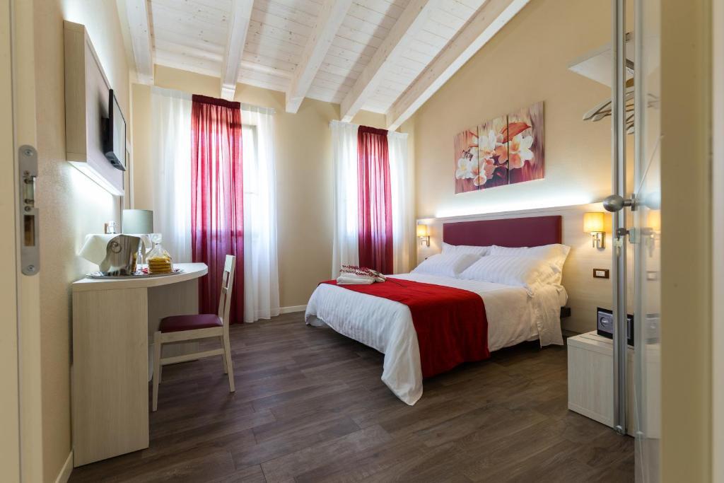 Ліжко або ліжка в номері Venice Airport Villa Erica & Villa Erica 1