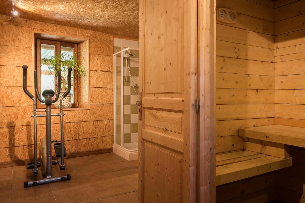 Salle de bains dans l'établissement Le Moulin Berthon